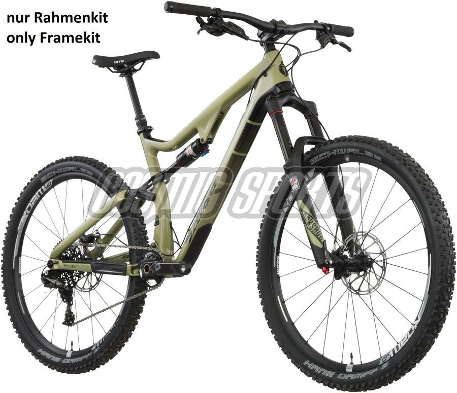 "Salsa Redpoint Carbon MTB Rahmen, 26+/27.5"", S, army green"