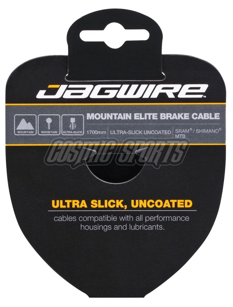 Jagwire 94EL1700 Mountain Brake Cable - Elite Polished Ultra-Slick Stainless - 1.5X1700mm - SRAM/Shimano