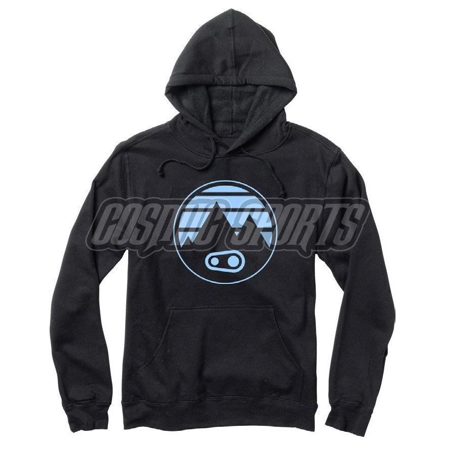 Crankbrothers Mountain Hoodie Men, black/blue, S