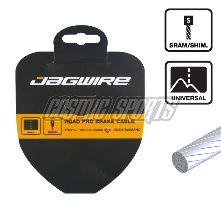 Jagwire 73SS2300 Shift Cable - Slick Stainless - 1.1X2300mm SRAM/Shimano pancake
