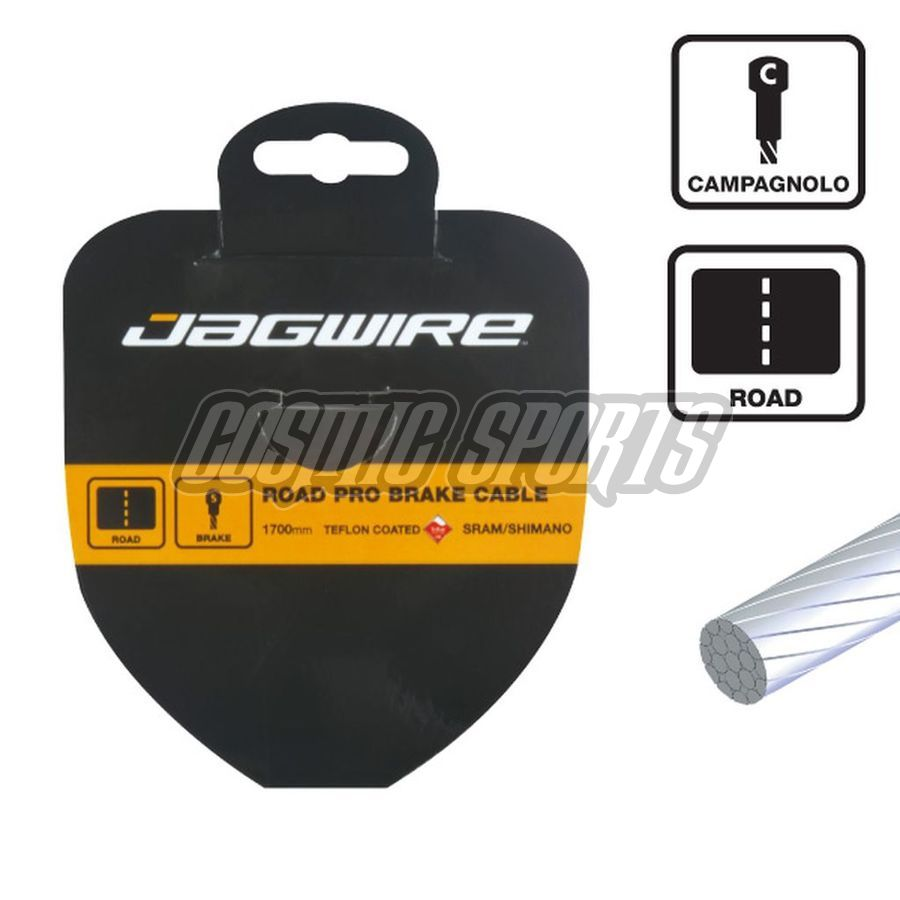 Jagwire 93SS2750 Road Brake Cable - Slick Stainless - 1.5X2750mm - Campagnolo pancake