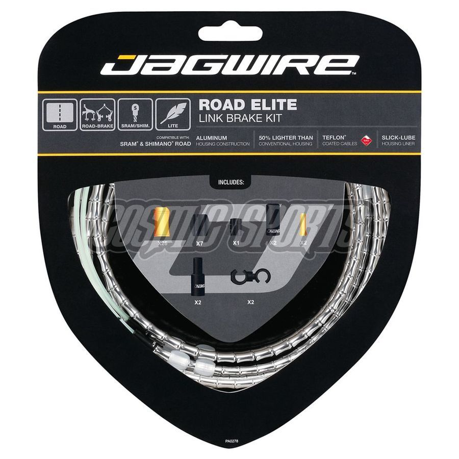 RCK501 Jagwire Road Elite Link Brake Kit - Silver