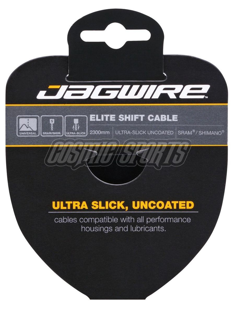 Jagwire 73EL2300 Shift Cable - Elite Polished Ultra-Slick Stainless - 1.1X2300mm - SRAM/Shimano