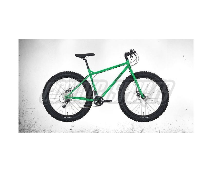 "Surly Pugsley Fatbike Komplettrad, 26"", XS/14"", grassy green"