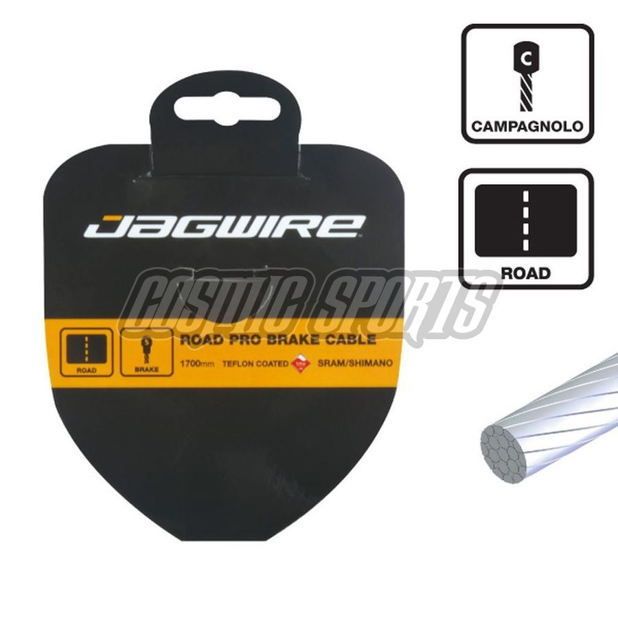 Jagwire 75SS2300 Shift Cable - Slick Stainless - 1.1X2300mm - Campagnolo pancake