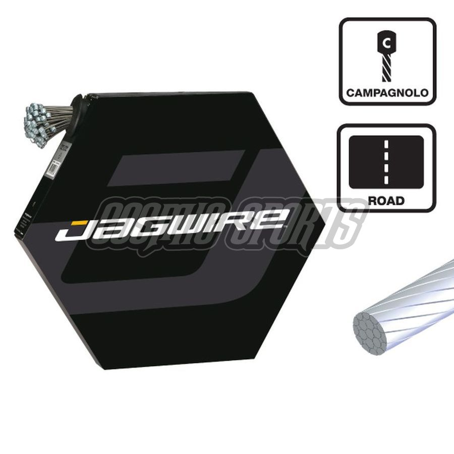 Jagwire 6009861 Shift Cable - Slick Stainless - 1.1x2300mm - Campagnolo (100pcs) Filebox